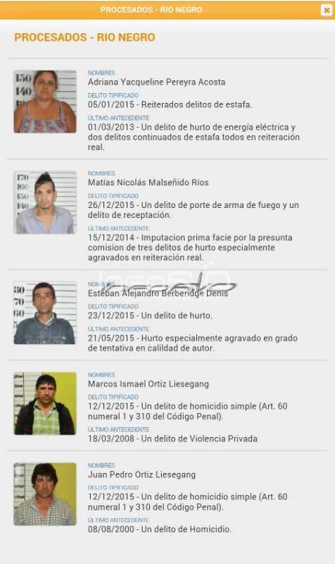 Inforio ltimos procesados en r o negro for Ministerio del interior pagina oficial